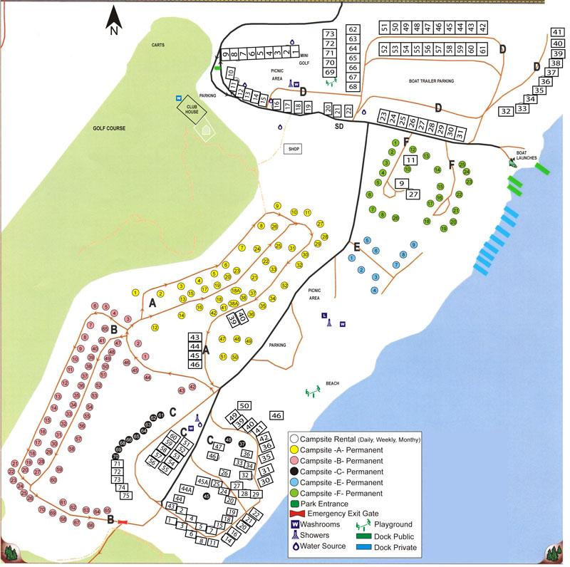 Wakaw Lake Map2014